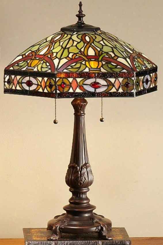 Oyster Bay Conservatory Medium Table Lamp - Medium Table, Multi