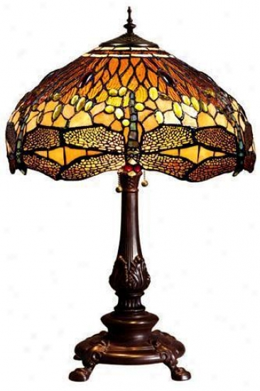Oyster Bay Dragonfly Medium Table Lamp - Medium Table, Gold