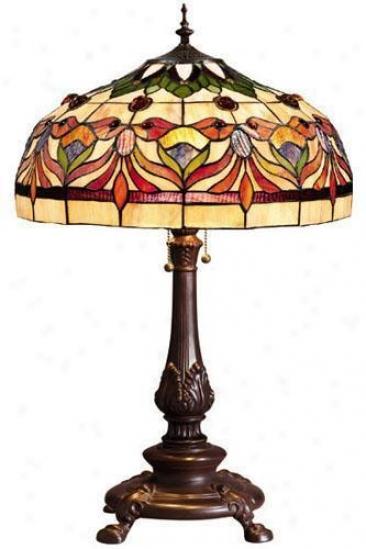Oyster Bay Kaleidoscope Medium Table Lamp - Medium Table, Red