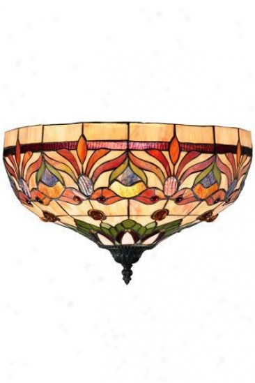 Oyster Bay Kaleidoscope Wall Sconce - Wall Sconce, Red