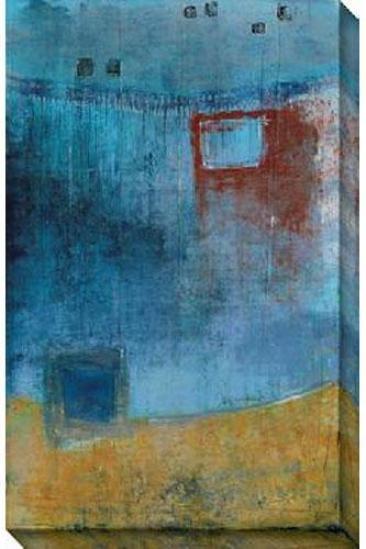 Pacific Side Ii Canvas Wall Art - Ii, Blue
