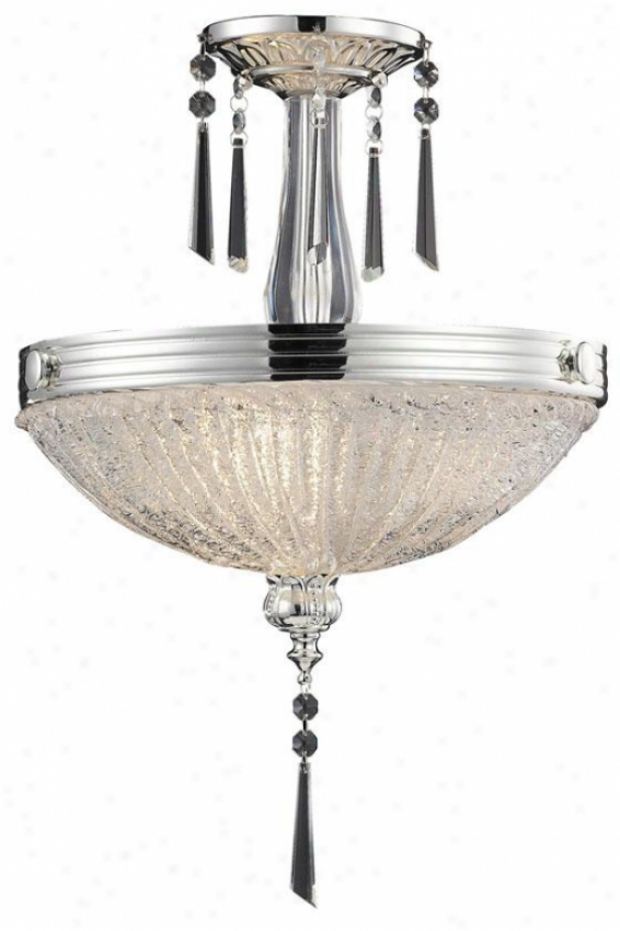 Palace Semi-flush Mount - 3-light, Polished Gentle