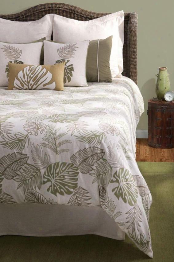 Palm Coast Bedding Set - King, Begie