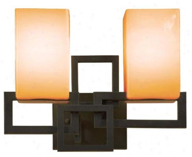Impose  Springs 2-light Vanity - Two Lgiht, Frg Irn/tan Opl