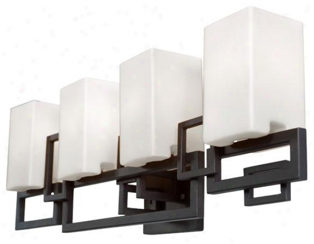 Palm Springs 4-light Vanity - Four Light, Forged Irn Crmy