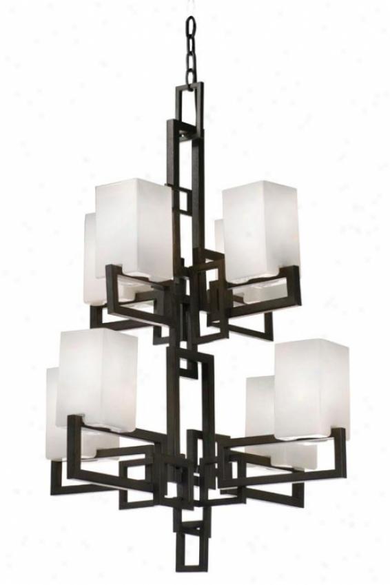 Palm Springs 8-light Chandelier - Eight Light, Frgd Irn Creamy