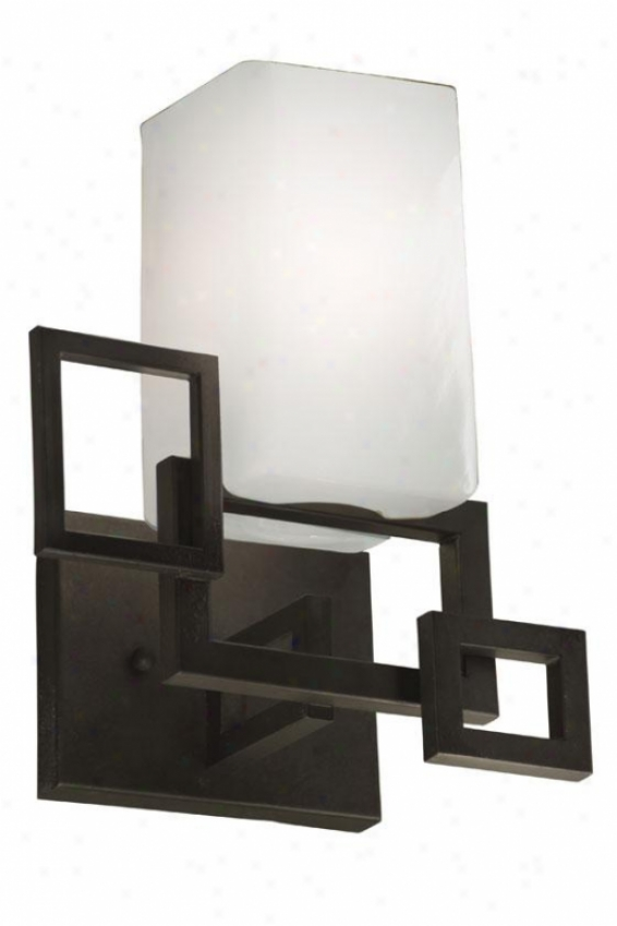 Palm Springs Sconce - One Light, Forged Irn Crmy