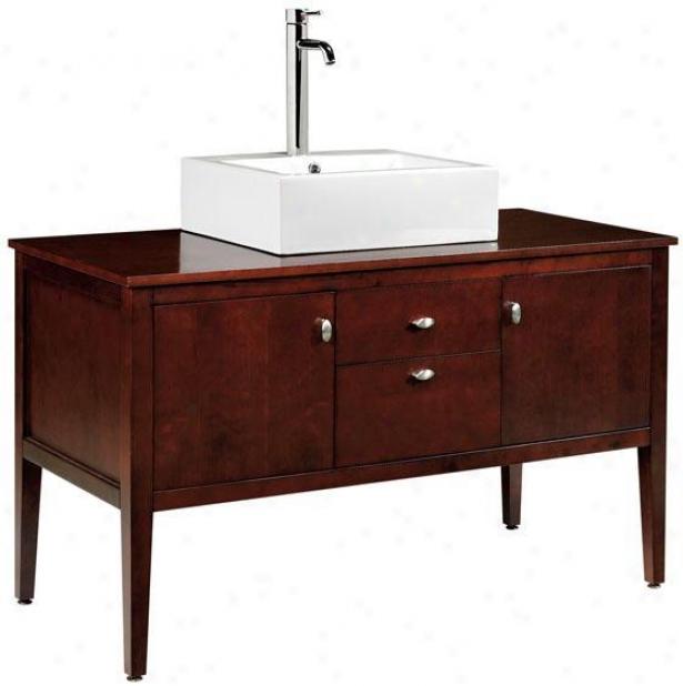 """palmer Bathroom Vanity - 29""""hx49""""w, Crimson Red"""