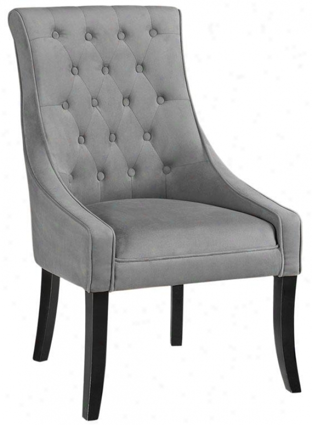 """pamela Tufted Chair - 41.5""""hx24.5""""w, Solid Vlvt Grey"""
