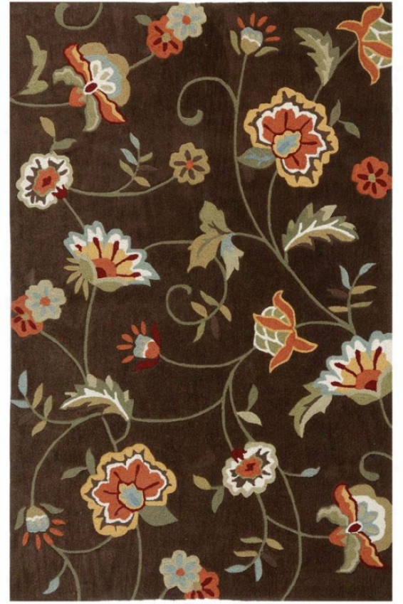"""paradise Iv Area Rug - 7'6""""x9'6"""", Brown"""