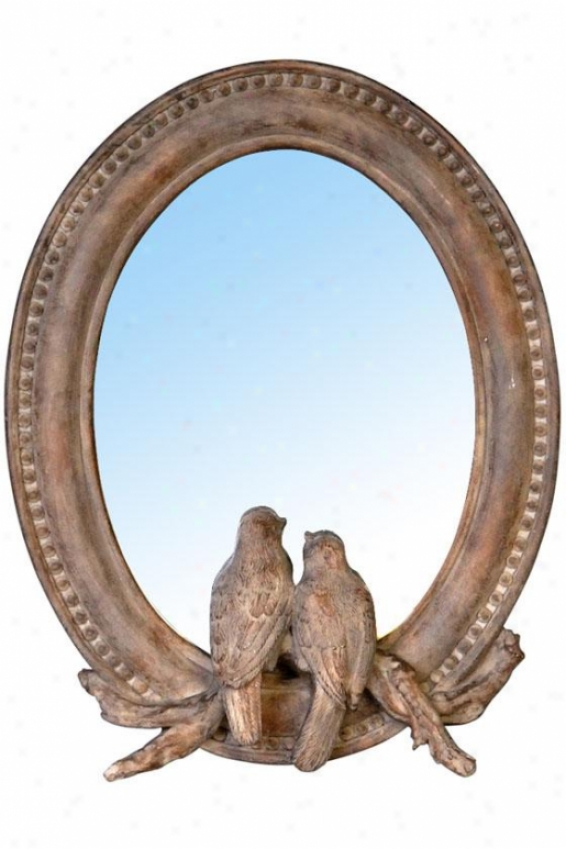 """paradise Mirror - 7.5""""wx9.5""""h, Natural Wood"""
