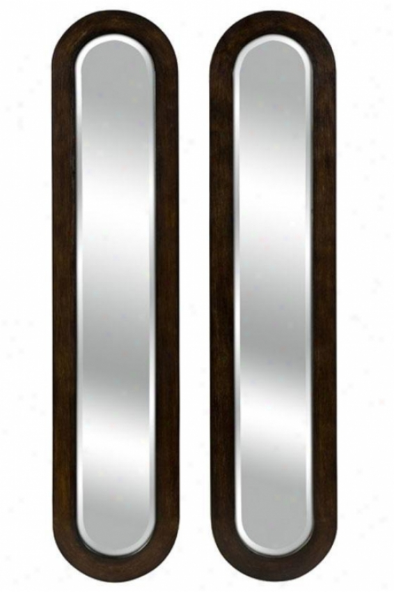 Parallel Vision Mirrors - Set Of 2 - Set/2, Brown