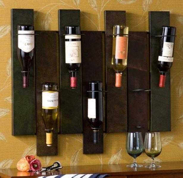 """""""parallels Wine Storage - 32""""""""wx27.25""""""""h, Earthtones"""""""