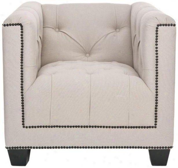 """paris Club Chair - 29""""hx34""""wx32""""d, Ivory"""