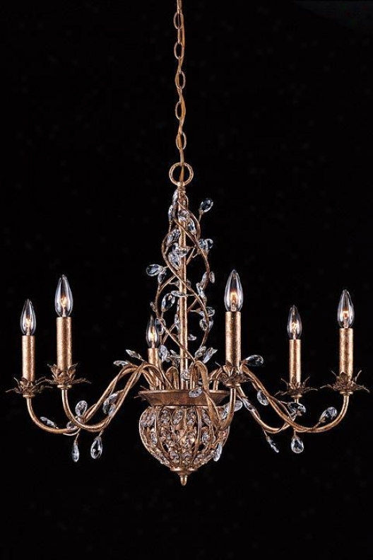 """paris Flea Crystal Eight-light Chandelier - 26""""hx28""""w, Gold"""