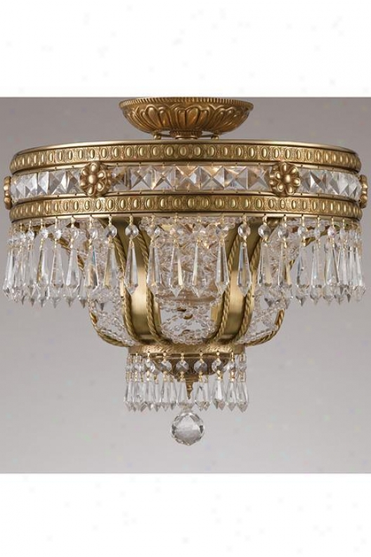 """paris Flea Crystal Semi-flush - 16.5""""hx17""""w, Bronze Bronze"""