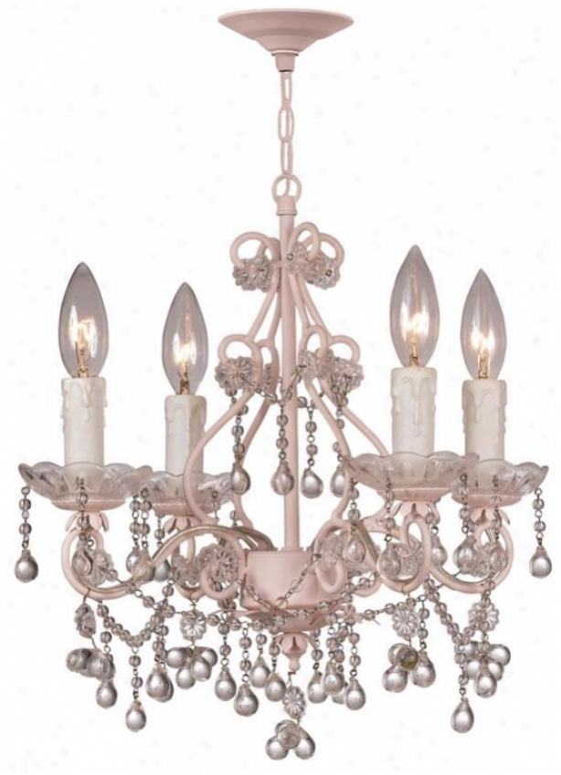 Paris Flea Maroet Chandelier - 4-light, Cream