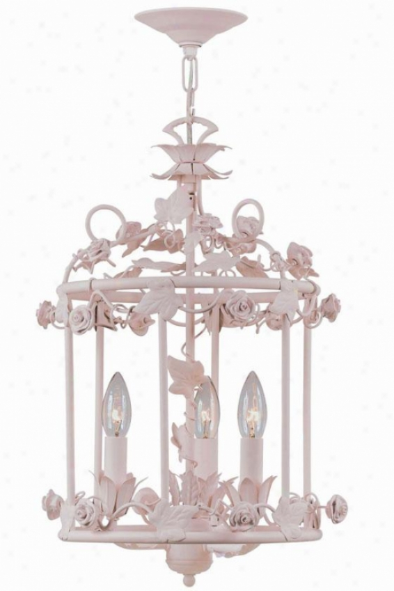 Paris Flea Market Foye5 Lantern - 3-light, Blush