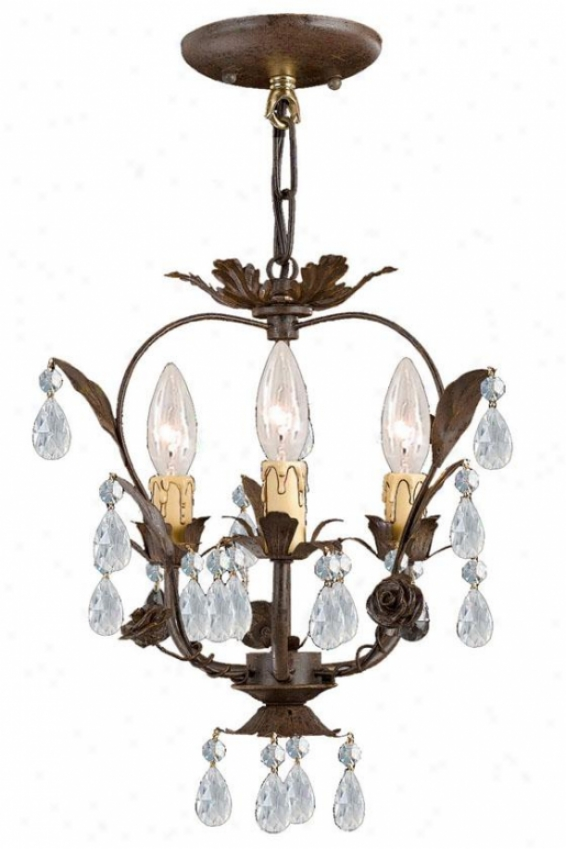 Paris Flea Market Mini Chandelier - 3-light, Convert into leather
