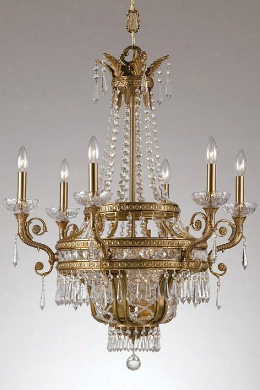 """paris Flea Nine-light Crystal Chandelier - 30""""hx28""""w, Brown Bronze"""