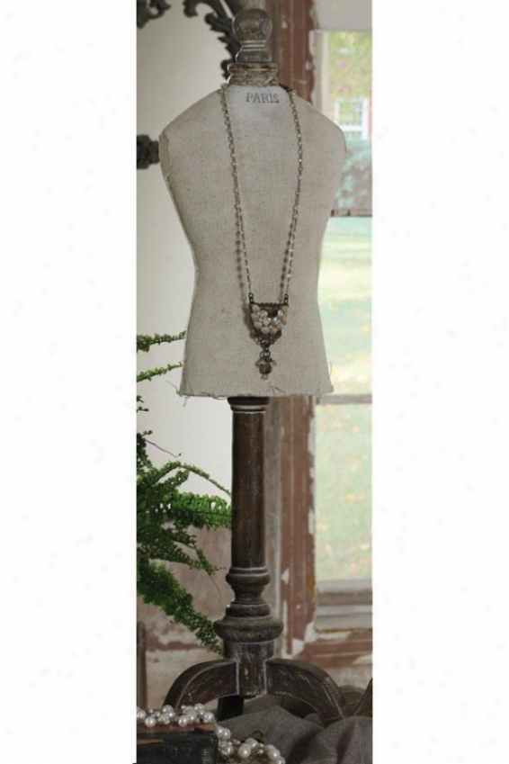 Paris Jewelry Mannequin - 10x8, Beige