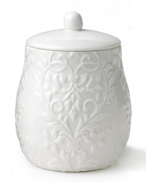 Pariian Cotton Jar - Cotton Jar, Whitd Porcelain