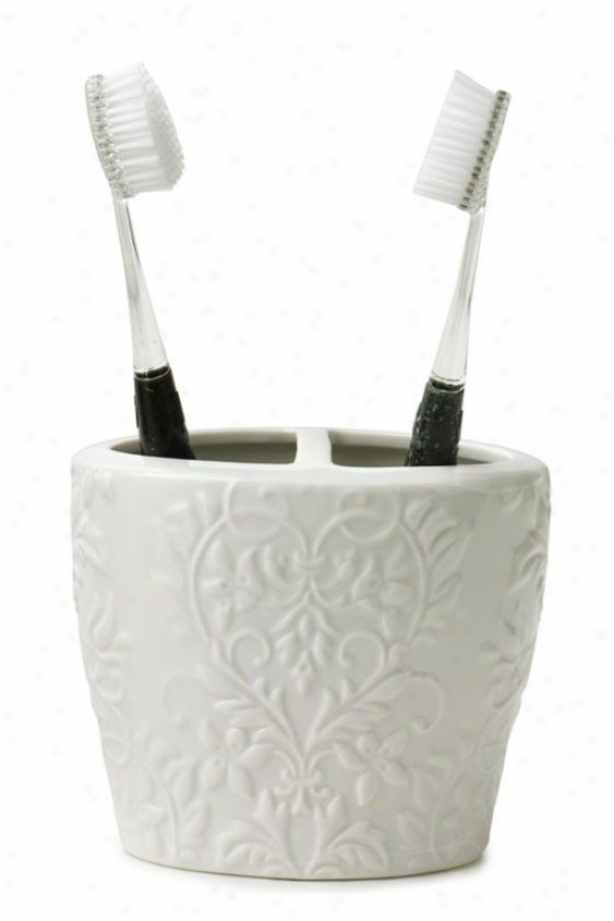 Parisian Toothbrush Holder - Toothbrush Hldr, White Porcelain