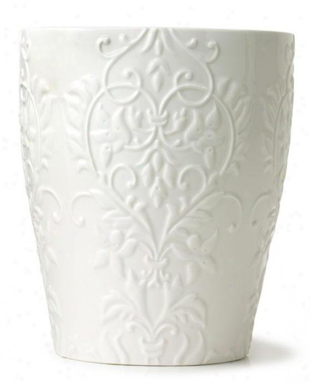 Parisian Waste Bin - Waste Bin, White Porcelain