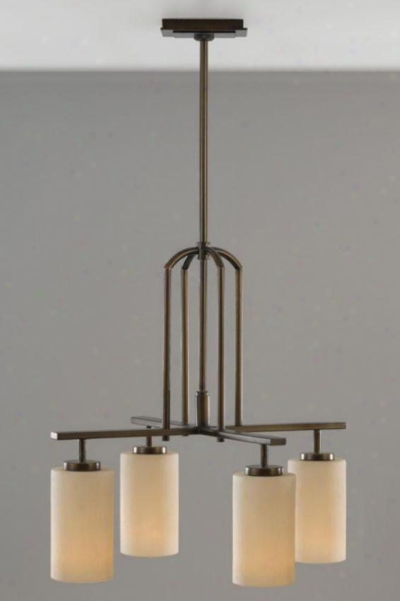 Parker Chandelier - Four Light, Heritage Bronze