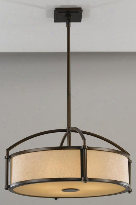 Parker Pendant - Three Light, Heritage Bronze