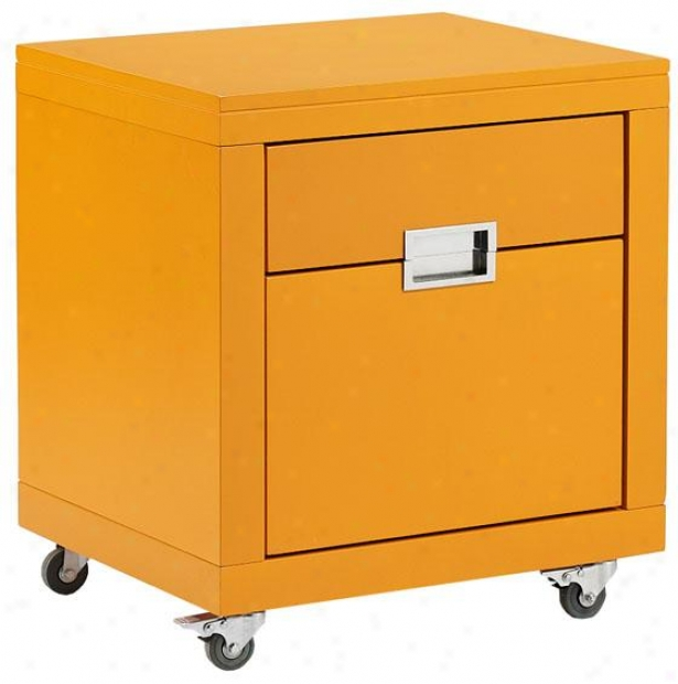 """parsons 20.5""""w Smooth Cabinet - 23""""x20"""", Orange"""