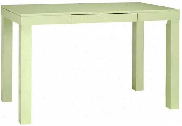 """parsons 47.5""""w Desk - 30""""x37.5"""", Grreen"""