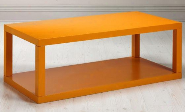 """parsons Coffee Table - 18""""hx48""""w, Orange"""