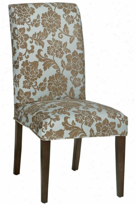 """parsons Side Chair Classic Slipcover - 40.5""""hx20.5""""w, Quiltd Pwdr Blu"""
