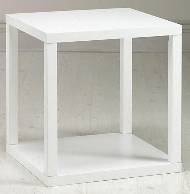 """""""parsons Side End Table - 24""""""""hx22""""""""w, White"""""""