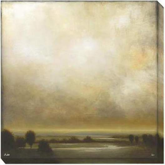 Partly Cloudy I Canvas Wall Art - I, Beige