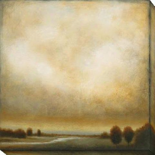 Partly Cloudy Ii Canvas Wall Art - Ii, Beige
