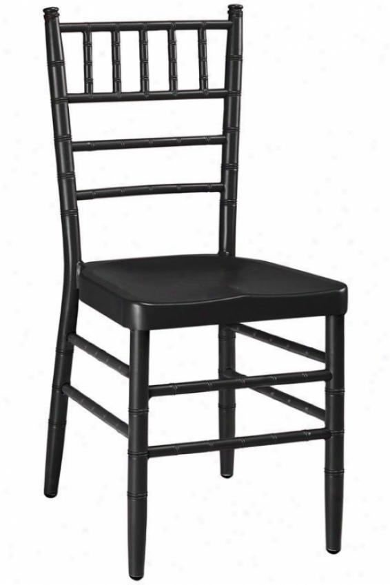 """party Chair - 35.5""""hx16""""w, Black"""