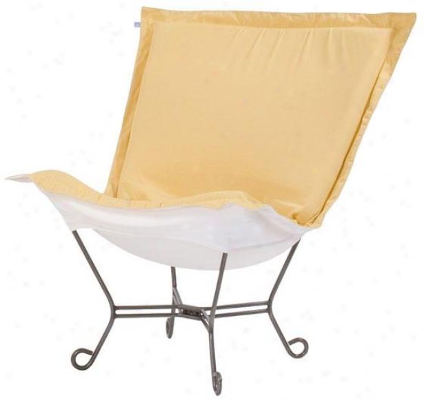 Patio Puff Chair - 40hx40wx37d, Starb Sunflower