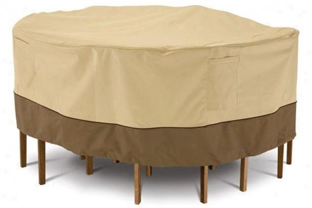 """patio Table Chair Cover - 24""""hx72""""l, Pbbl/earth/bark"""