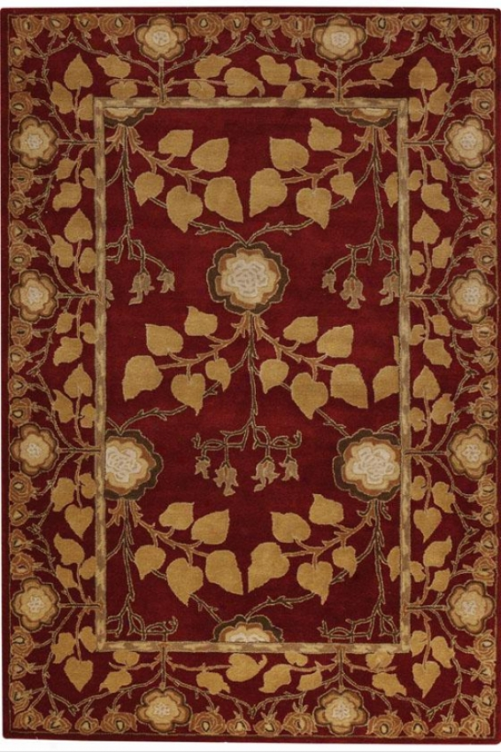 Patrician Rug - 8' Round, Red