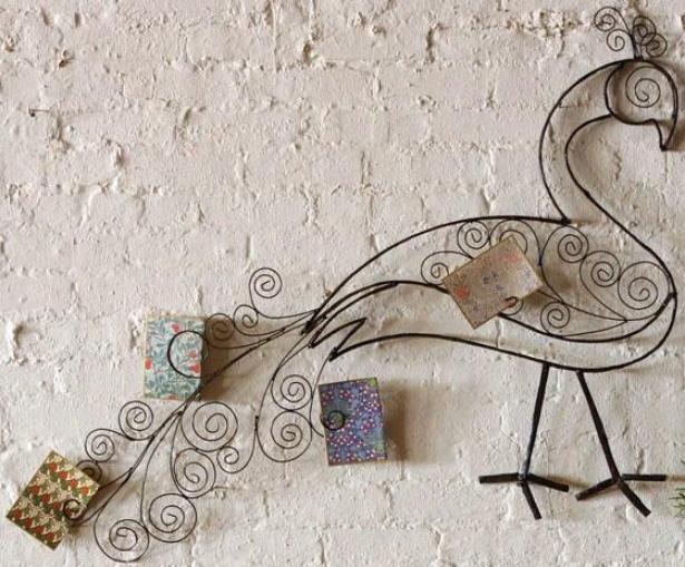 """peacock Wall Sculpture - 36""""hx48""""s, Brown"""