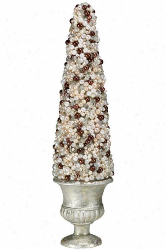 """""""pearl Cone Topiary - 18""""""""h, Multi"""""""