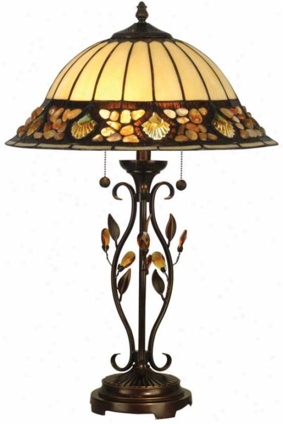"""pebblestone Table Lamp - 27h X 16""""d, Antq Gldn Sand"""