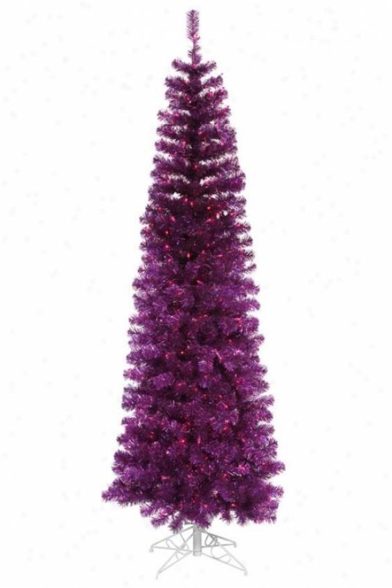 """""""pencill Tree - 108""""""""hx44""""""""w, Purple"""""""