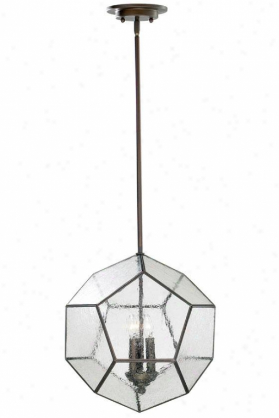 Pentagon Chandelier - 3-light, Oiled Bronze