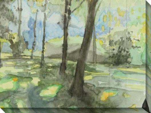 """people's Park Canvas Wakl Art - 48""""hx36""""w, Green"""