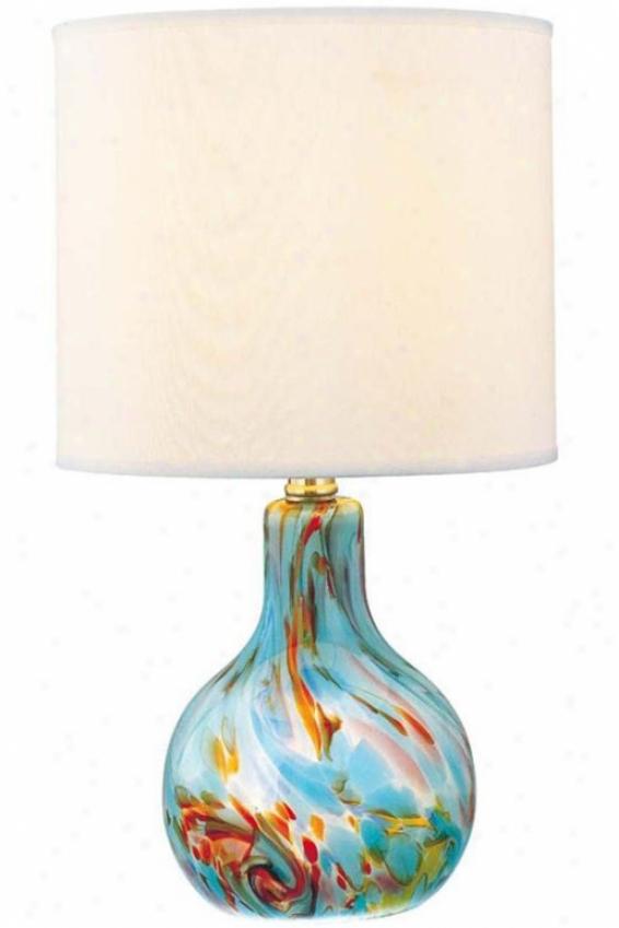 """pepita Table Lamp - 14.5""""hx8""""d, Aqua Melancholy"""