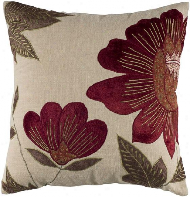 """""""persimmony Decorative Pillow - 18"""""""" Four-sided figure , Ivory"""""""