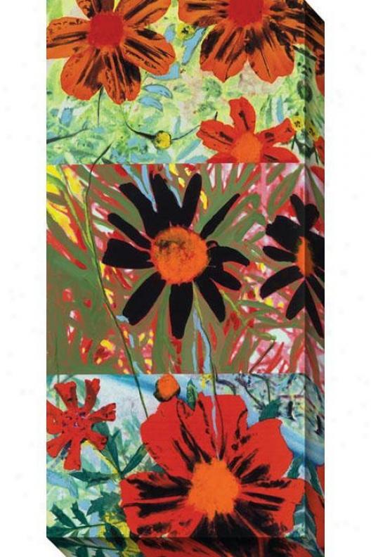 Petals And Leaves Iii Canvas Wall Creation of beauty - Iii, Green